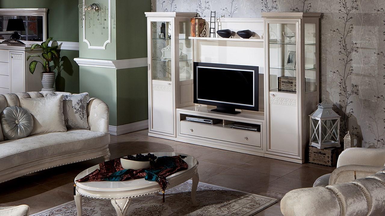 Barok Tv Bänk Hyllsystem